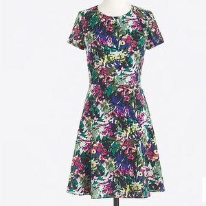 J. Crew Factory Printed Flutter jcrew Dress